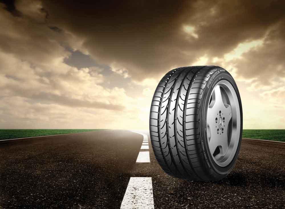 Bridgestone Tyre on the Road