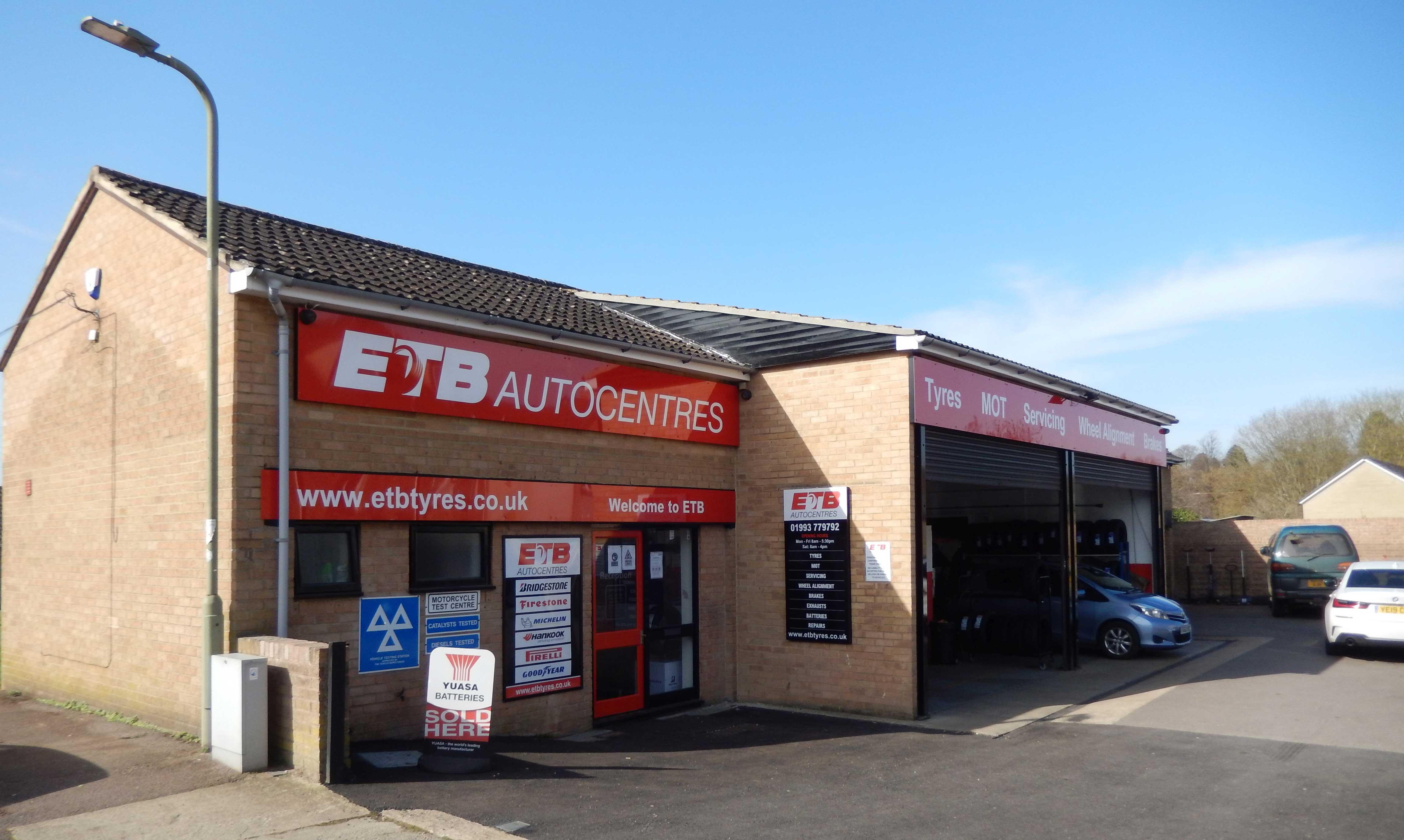 Storefront of MOT testing centre in Witney